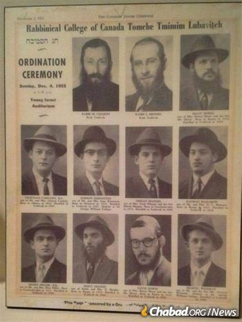 A Jewish newspaper in Montreal annoucing the rabbinic graduates.