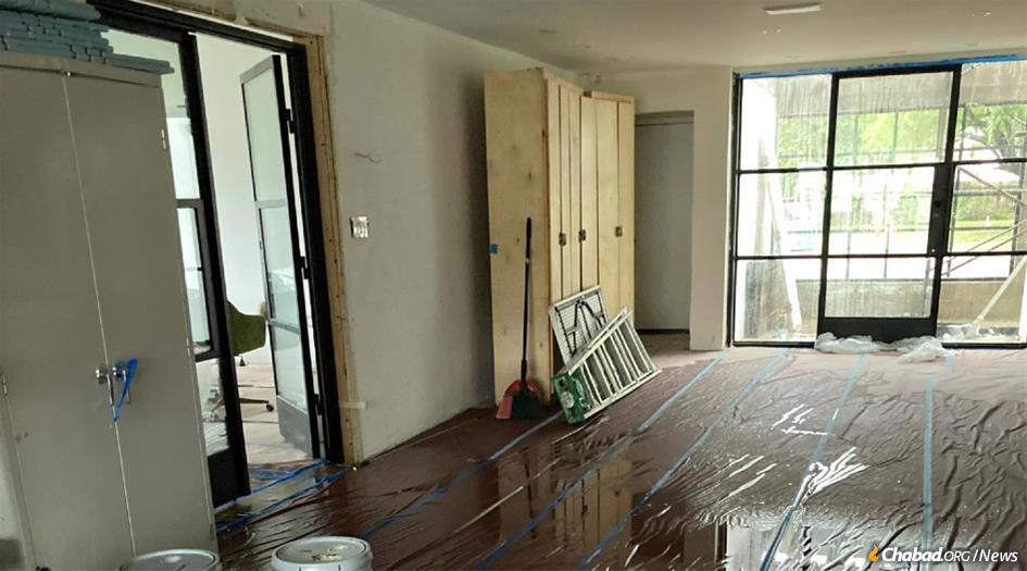 The Chabad House in McAllen, Texas, suffered water damage, and a large shipment of kosher food received before the storm hit is at risk of rotting as temperatures soar in the city and power lines remain down in the wake of Hurricane Hanna.