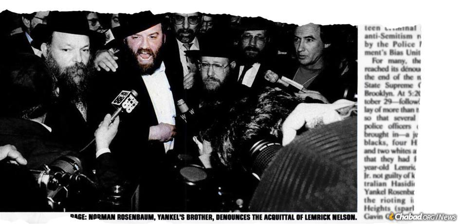 """Norman Rosenbaum caught the world's attention in his quest for justice against entrenched anti-Semitism, chronicled in this """"New York"""" magazine article at the time of Lemrick Nelson Jr.'s initial acquittal for the murder of Yankel Rosenbaum."""