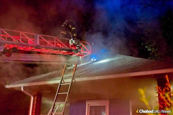Firefighters battled the blaze for hours. (Photo: Michael Romagnoli)