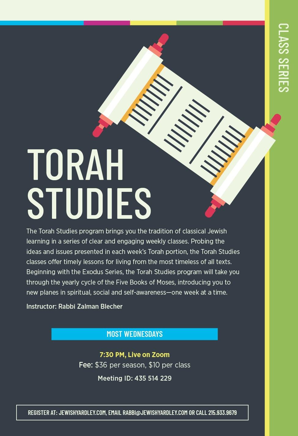 Torah Studies by Rabbi Zalman Blecher