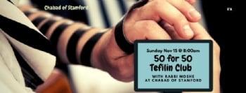 50 for 50 Tefilin Club