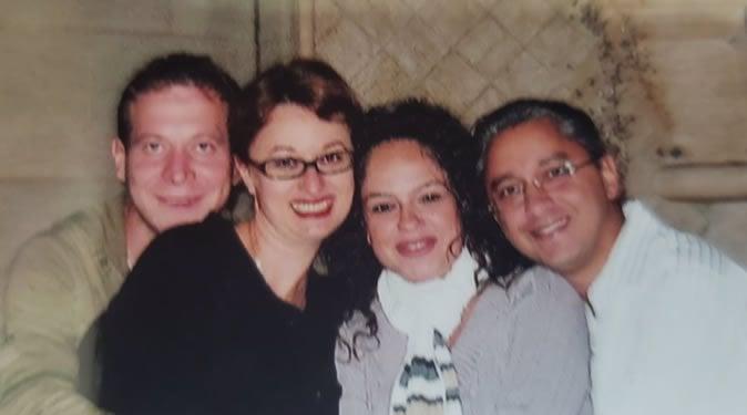 Sasha, myself, Sharlyn and Behdad in October 2008.