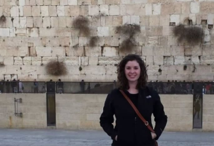 Rayanne at the Western Wall in Jerusalem