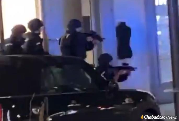 Armed police respond to a terror attack on the streets of Vienna, Austria.