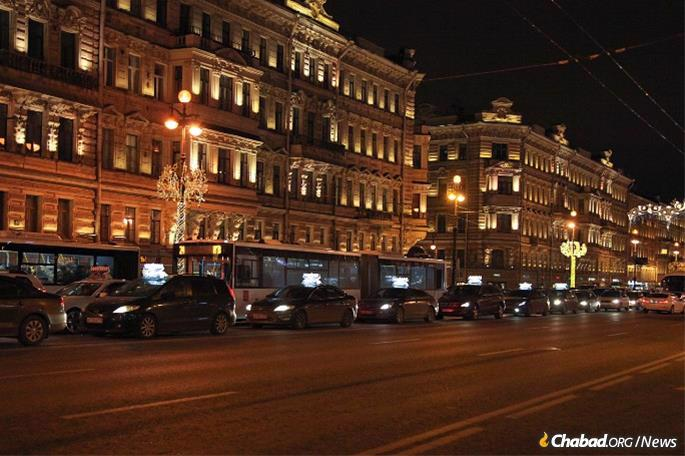 In St. Petersburg, Russia, where a convoy will again make its way from the historic Choral Synagogue to several landmarks in the city center, including the Moskovsky Rail Terminal and the Hermitage Museum.