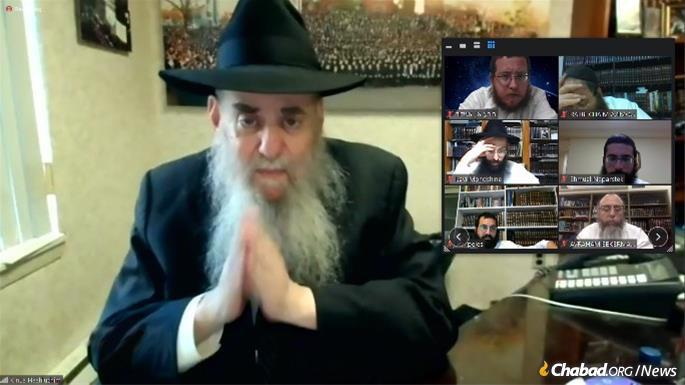 Rabbi Moshe Kotlarsky and others shared memories of personal encounters with the Rebbe, inspiring passages from Chassidic discourses, and highlights and oral history from past conferences.