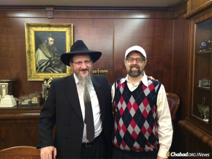 Shore with Rabbi Berel Lazar, the chief rabbi of Russia