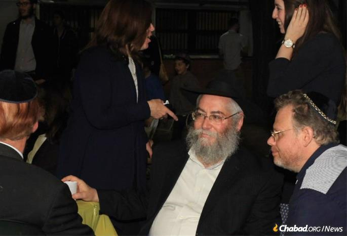 """While deeply personal, Shaikevitz's activities were wide-reaching as well. """"He was the spiritual DNA of the city."""" For holidays, he would arrange inclusive communal gatherings, as well as farbrengens on the Chassidic holidays sprinkled throughout the year. (Photo: Rinati Dor Dvorski)"""