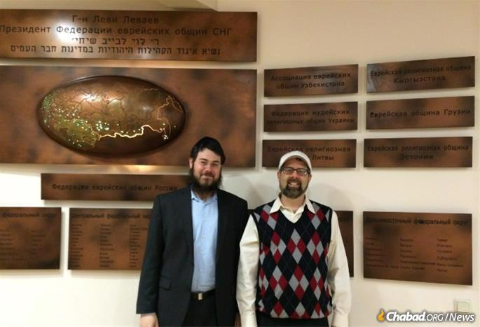 Shore has spent many Shabbats at Chabad in Moscow, where he was given a tour of the 11-story building by Rabbi Yaakov Klein, executive director of the International Jewish Community of Moscow.