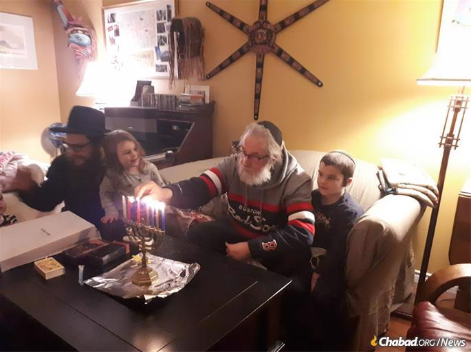 The Hecht family (pictured) spends one day in the main city of Kelowna and then an evening in eight cities in the region, doing Hanukkah house visits and public menorah-lightings. This year will be different because of COVID-19, but they want to make sure Hanukkah is felt more than ever before.