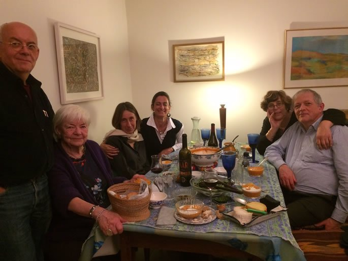 Celebrating Chanukah with friends in Jerusalem.