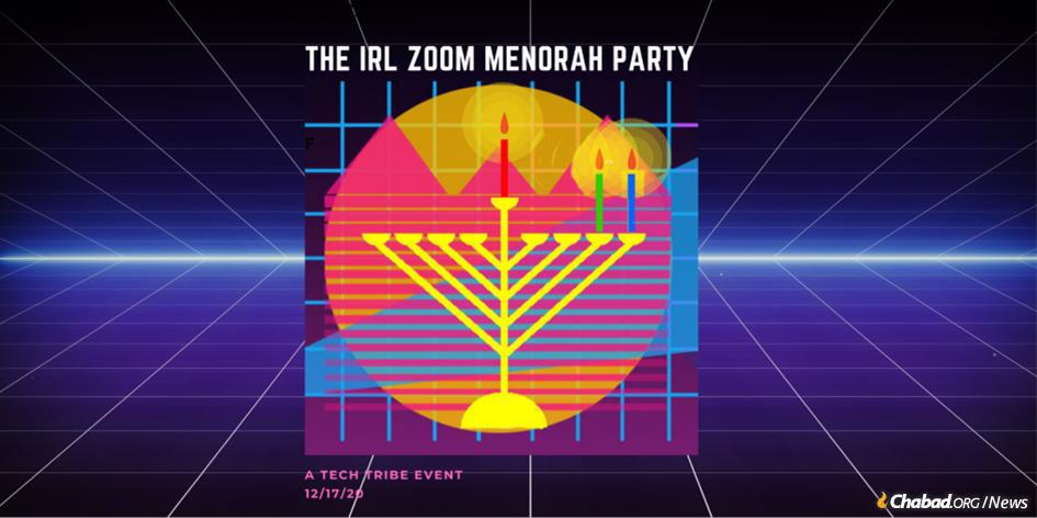 """While virtual events have become standard during the pandemic, Tech Tribe's party involves a novel twist: Participants unable to come in person will be Zooming in from within the special """"Zoom Robot Menorah"""" invented for the party."""