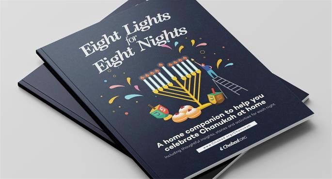 Eight Lights for Eight Nights is a night-by-night PDF program to be printed and enjoyed during Hanukkah.