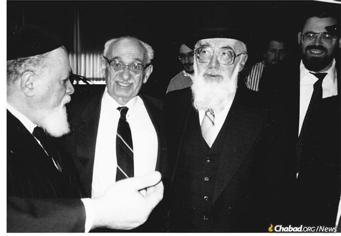 Meeting Rabbi Moses Rosen, chief rabbi of Romania