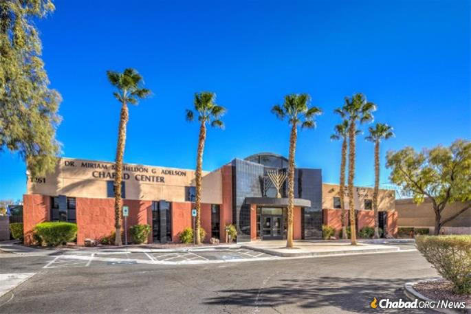 Dr. Miriam and Sheldon G. Adelson Chabad Center in Las Vegas, one of eight Chabad centers in the city.