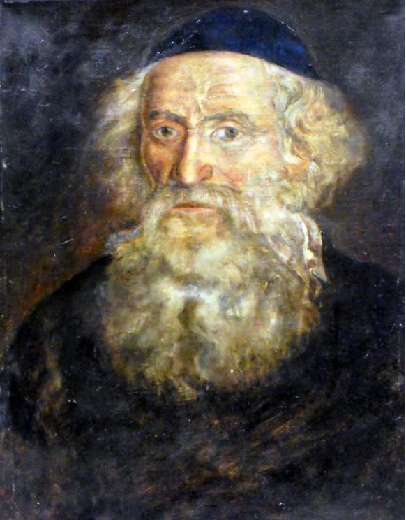 The portrait of Rabbi Dr. Chaim Dovid Bernhard of Pietrekov (1770s - 1858). Credits: GFDL