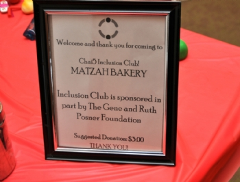 Friendship Circle Chai5 Inclusion Club Matzah Bakery - 3.25.2018