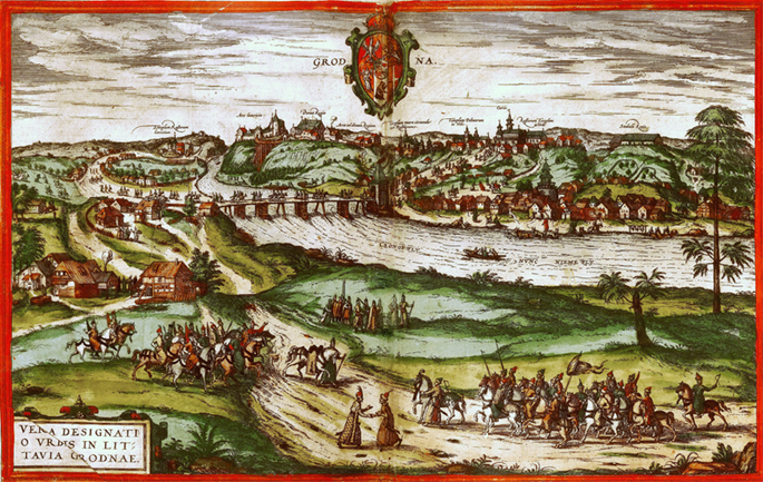View of Grodno from 1575.