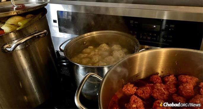 """""""It's a bit of a challenge to cook in a dark and cold kitchen, but we did it,"""" Nene Schmukler in Corpus Christi, Texas, posted on social media. """"Let me know if you'd like a hot homemade dinner!"""""""
