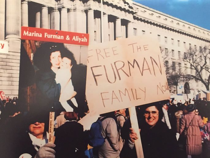 Rally in Washington DC, December 6, 1987. The Furmans were protesting in Leningrad that same day.