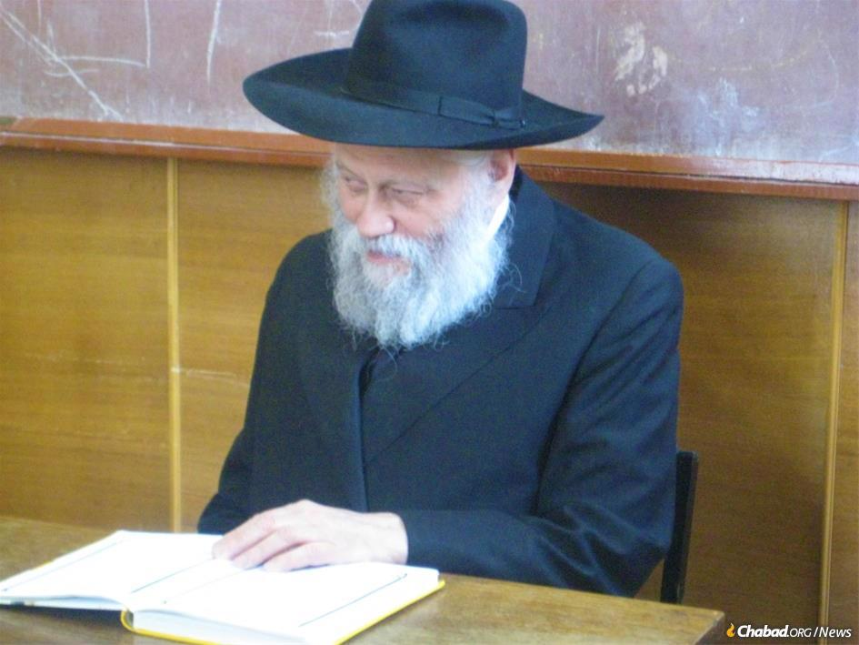 Rabbi Gershon Mendel Garelik, the head Chabad-Lubavitch emissary in Italy, passed away on Shabbat at the age of 88. The charismatic rabbi and his wife, Bassie Garelik, were sent by the Rebbe to Milan Italy, in 1958, and would over more than half a century of work change the course of Italian Jewish life. (Credit: Jewish Community of Kharkov)