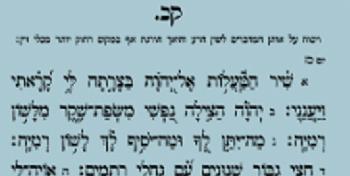 The Rebbe's Kapitel