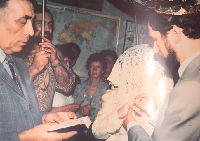 Lev and Marina under the chuppah.
