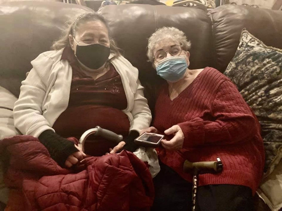 Trapped at home in freezing weather with no electricity, Phyllis and Mary Alice were able to find warm beds and a hot meal at Chabad of Corpus Christi, Texas.