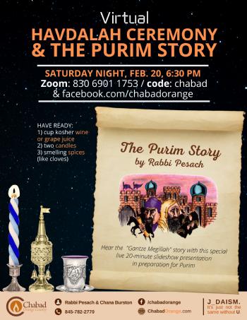 Havdalah & Purim Story
