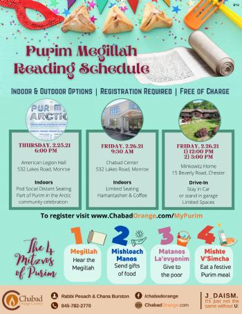 Megillah Schedule