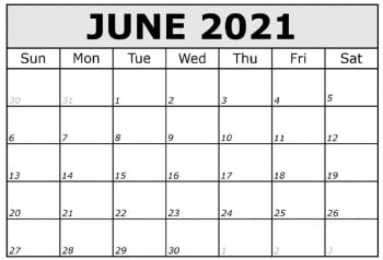 Dates and Rates 2021
