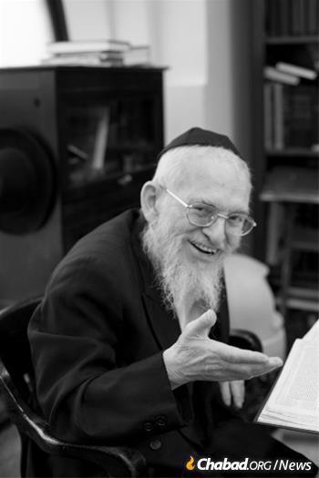 """""""Reb Yisroel"""" - Rabbi Yisroel Friedman, long- time Rosh Yeshiva of Oholei Torah."""