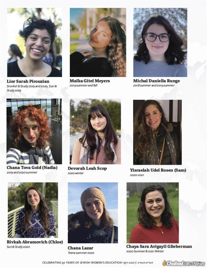 In light of how meaningful Bais Chana was to the Rebbe, they put together a gift of names, photos and anecdotes of women who attended Bais Chana throughout the years.