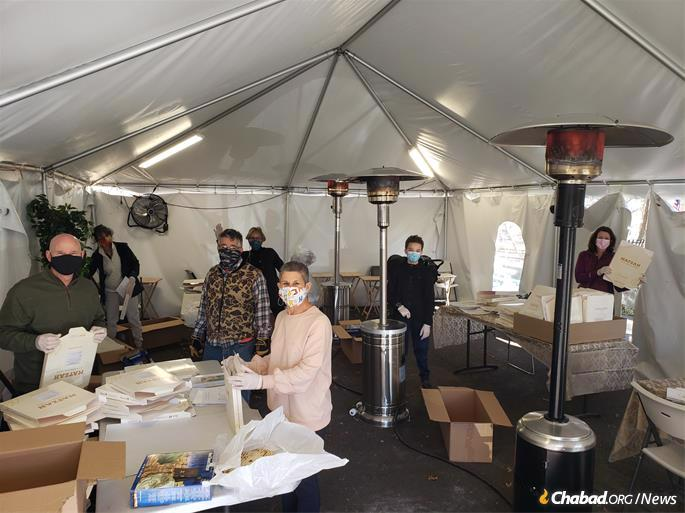 In addition to the shmurah matzah distribution, Chabad of Olney will host an outdoor Passover Seder. (Credit: Chabad of Olney)