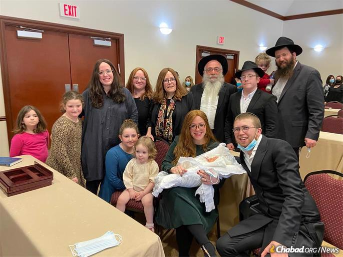 Rabbi Gurevitch was struck by a car while delivering shmura matzo after attending the circumcision of a grandchild, above.
