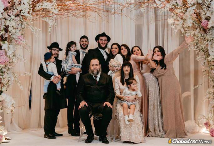 Bentolila saw her primary role as caring for and educating her children, educating them with her husband at home before sending them away to study at Chabad schools abroad at a young age. Pictured here at the wedding of her daughter Chaya Nemni.