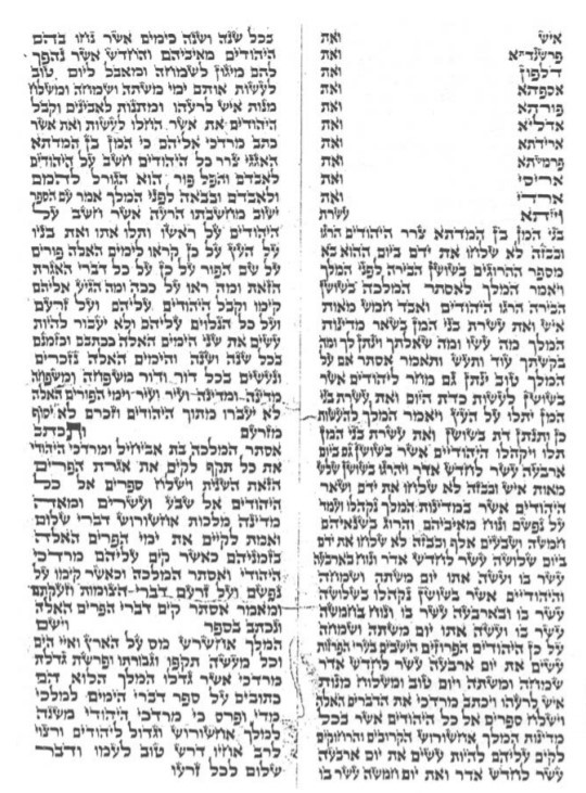 Part of a Megillah written by Rabbi Shmuel of Lubavitch (credit: Library of Agudas Chasidei Chabad)