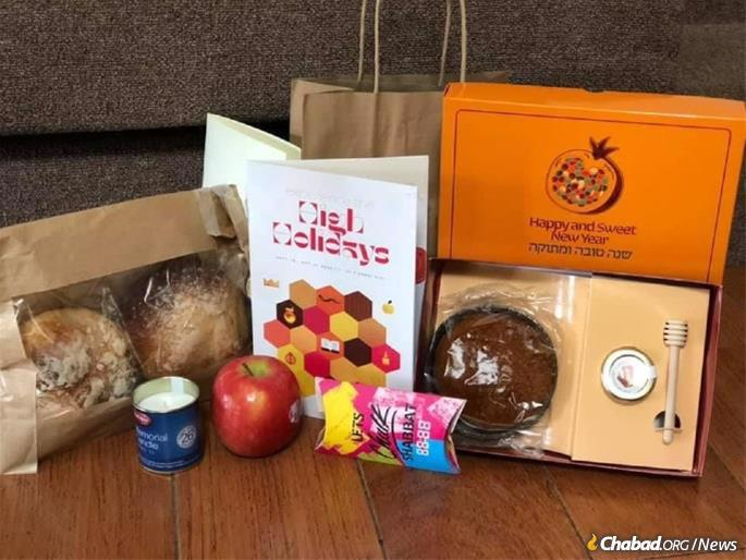 Boxes packed with honey and other treats were sent out before Rosh Hashanah.
