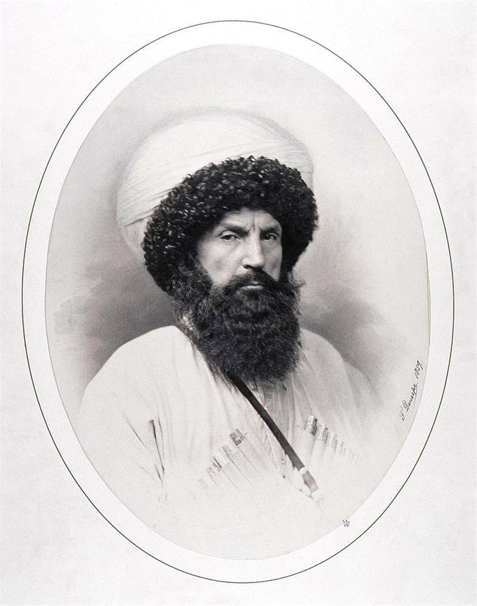 Avar Muslim leader Shamil from present-day Dagestan, Russia (credit: Andrey Denyer).
