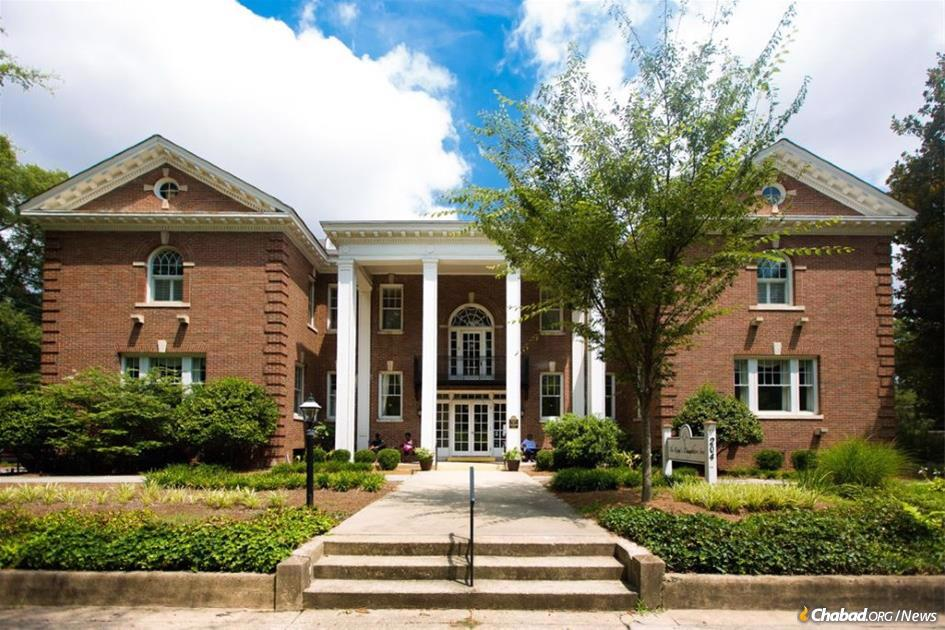 The historic brick Colonial Revival building formerly the King's Daughters Inn has been renamed Fleishman House in honor of beloved Jewish professor Joel Fleishman and serves as the new home of Rohr Chabad at Duke University Undergrads.