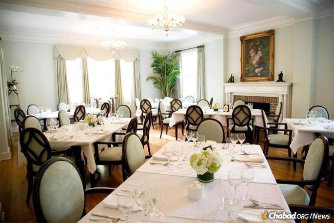 The dining room will be a welcome site of Shabbat and holiday meals.