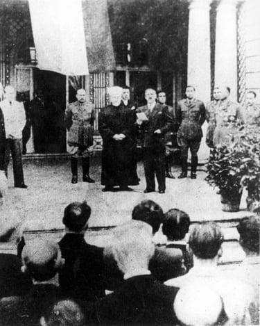 Rashid Ali al-Gaylani at the anniversary of the 1941 Iraqi coup in Berlin.