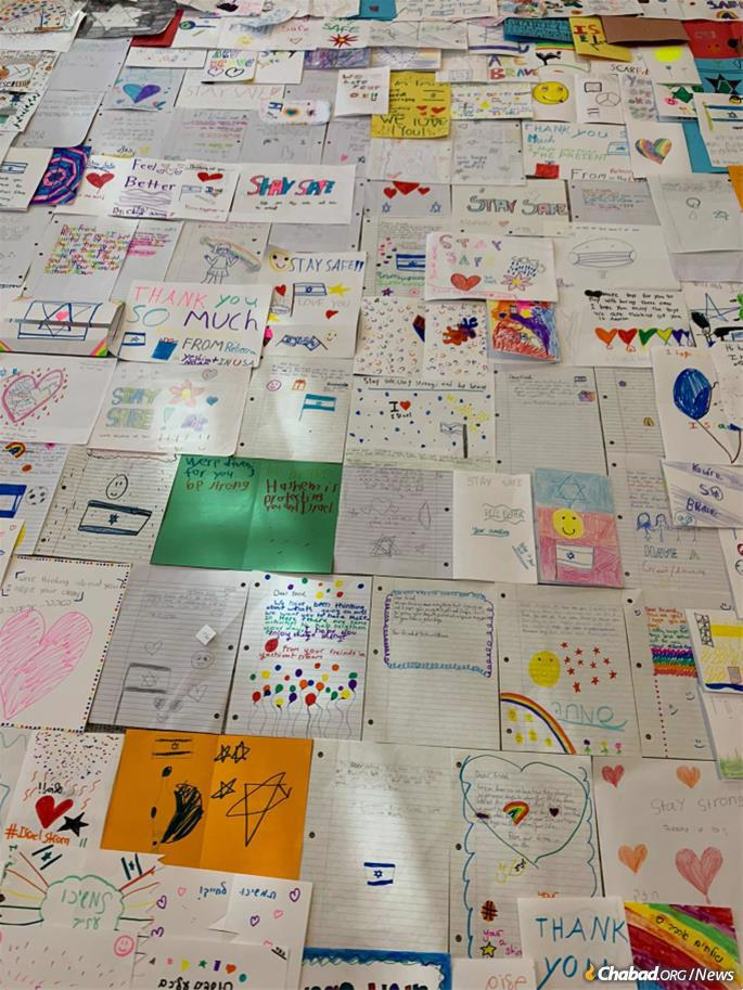 A sample of cards and letters that are being distributed.