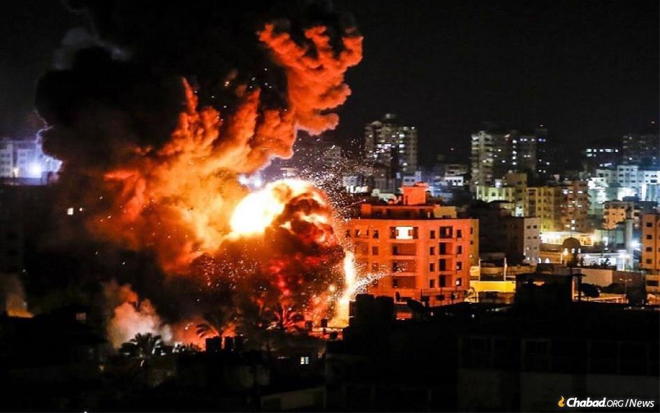 Israel strikes a terrorist target on Thursday night. (Photo: Twitter)