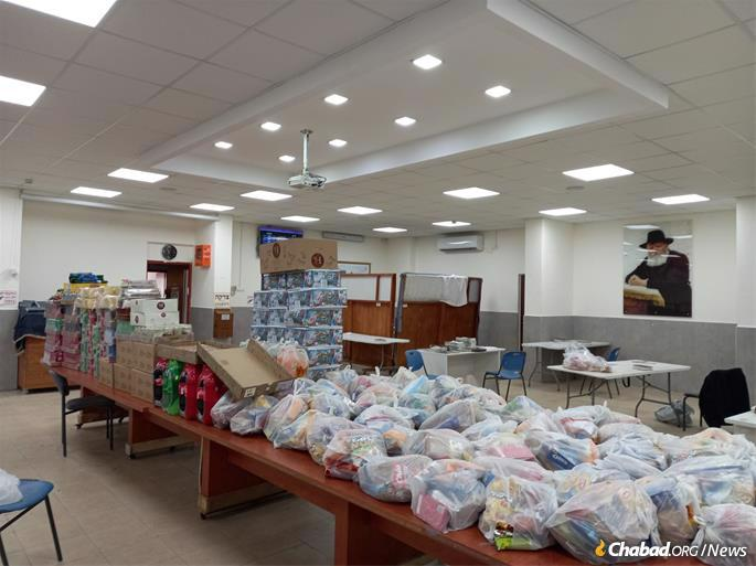 Bags of chips and soft drinks for IDF soldiers and Sderot children.