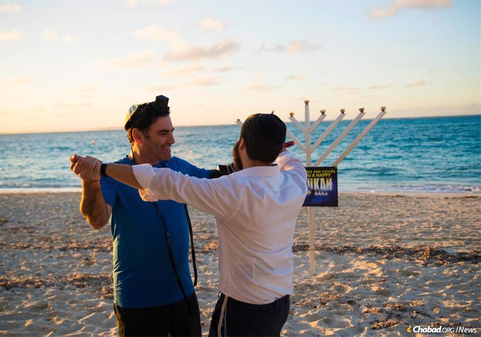"""""""It is amazing how fast Jewish souls can be ignited,"""" says the rabbi. """"The Jewish pride and Jewish awareness on the island is growing by leaps and bounds."""""""