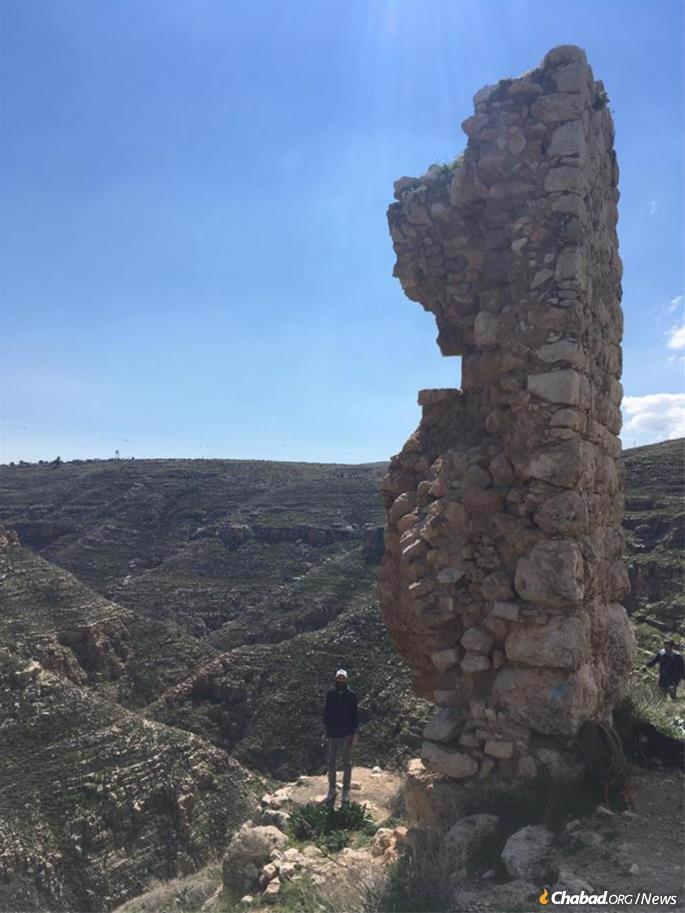 Hurwitz in the Judaean Hills during a Mayanot trip to Tekoa