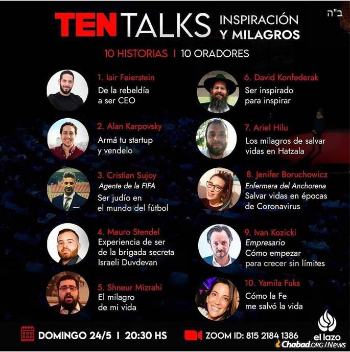 Ten talks on the Ten Commandments in Argentina .