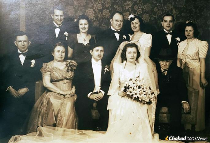 Shortly before he was deployed in 1941, Haller married his sweetheart, Tziporah Malka Fried.